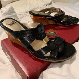 Söfft Pestora Black heels, size 8